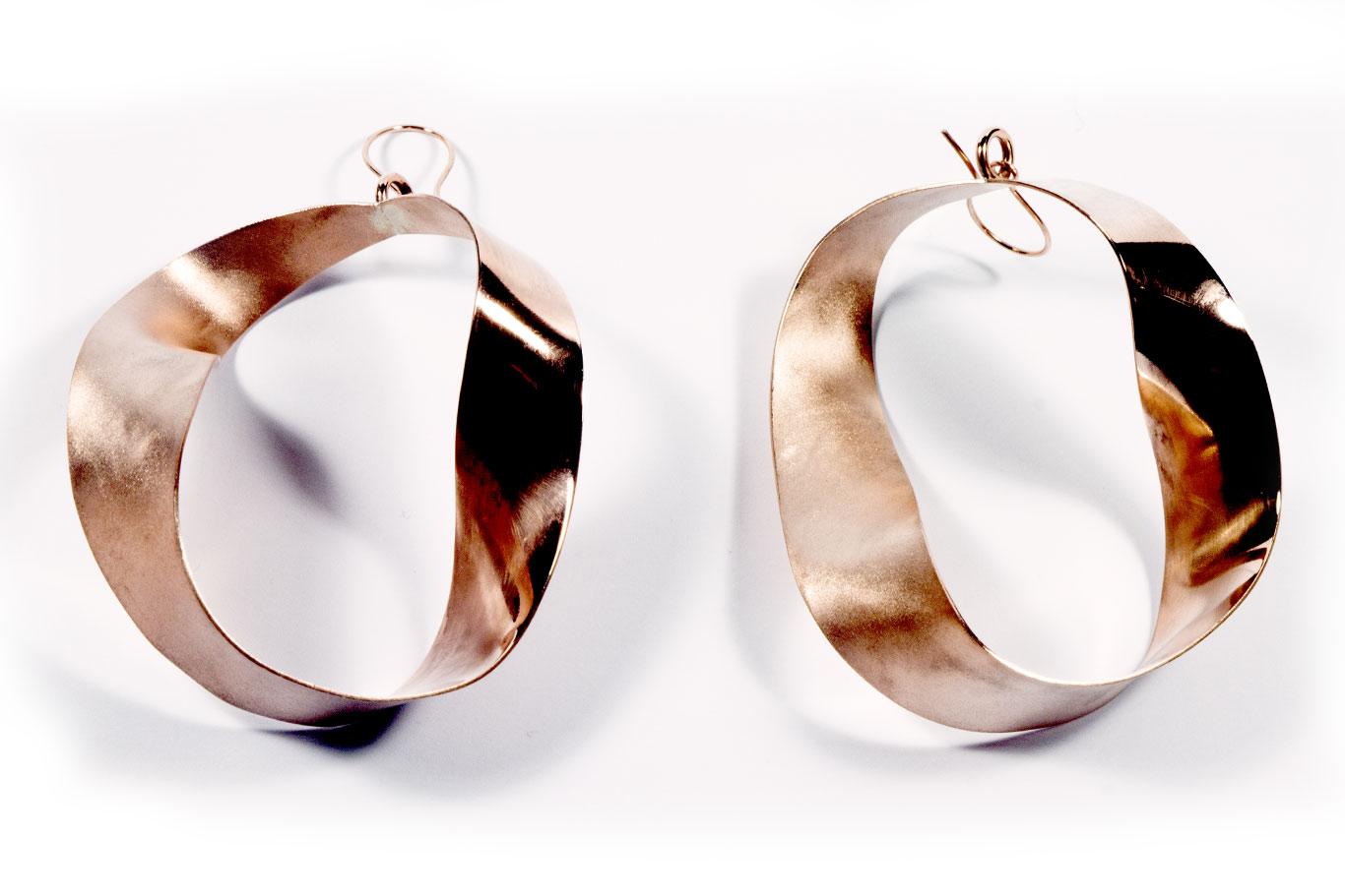 Boucles d'oreilles cuivre