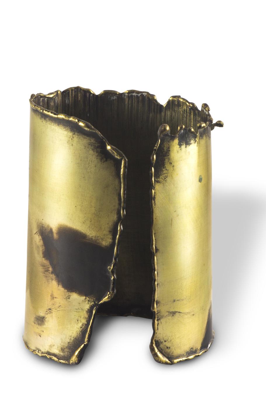 Bracelet manchette laiton