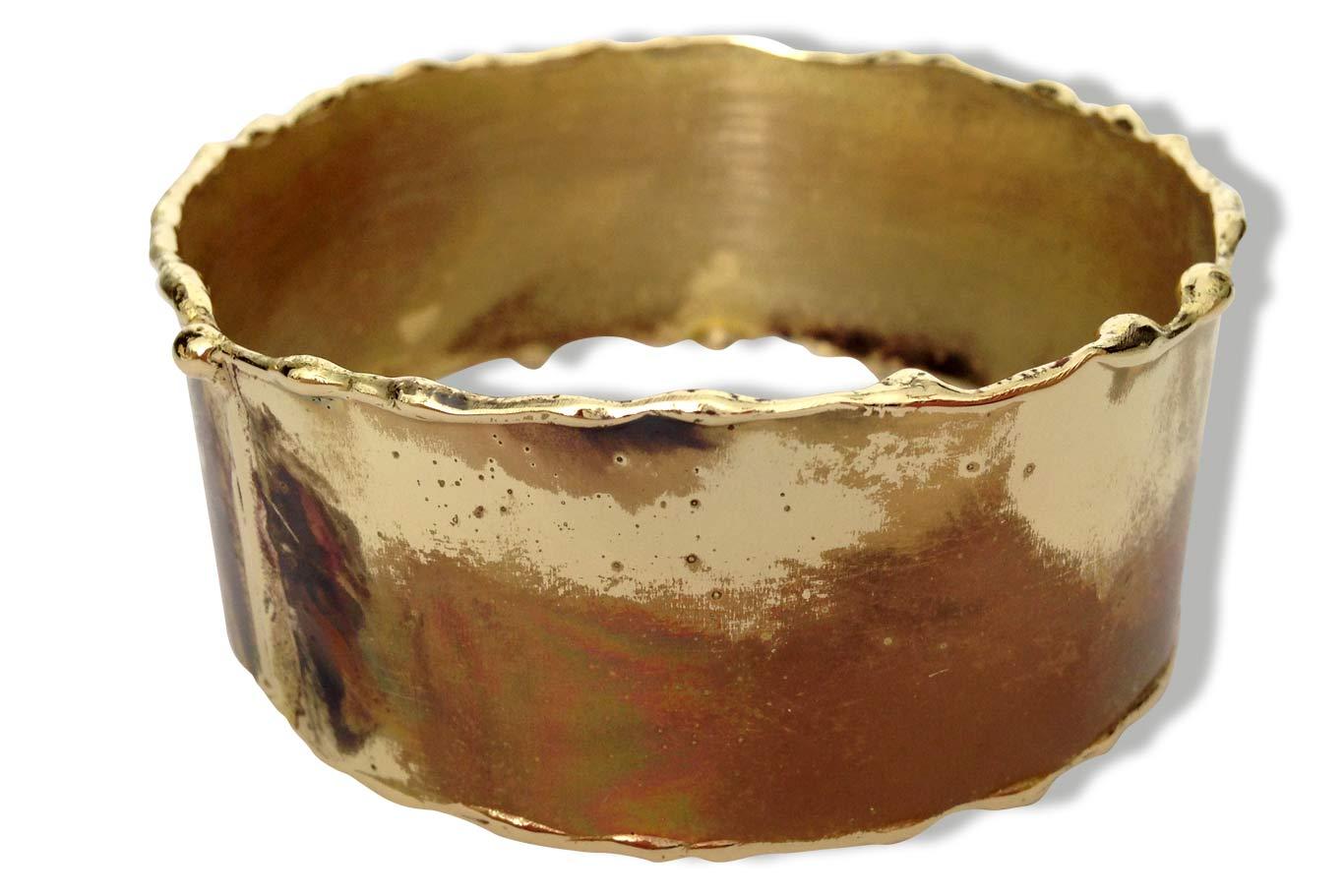 Bracelet laiton oxydé