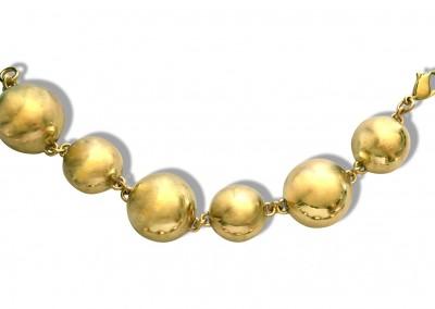 Bracelet demies sphères en laiton