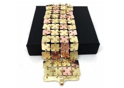 Bracelet en cuivre et laiton