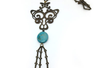 Collier baroque et turquoise